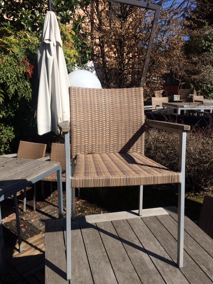 tavolo esterni teak alluminio royal b mis 100x100 , sedie ...