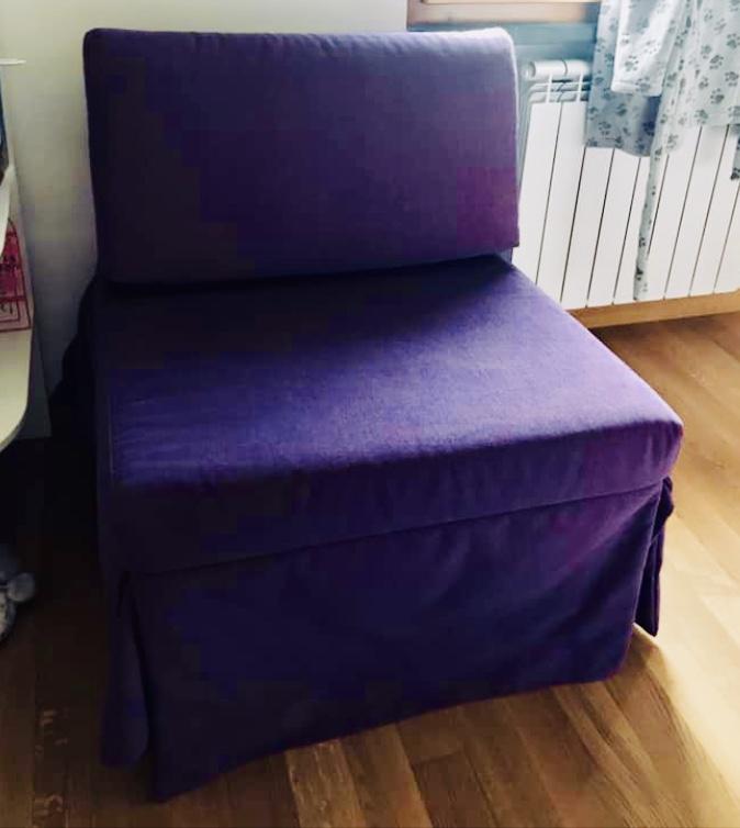 Poltrona letto singolo da arredo - Poltrona letto usata ...